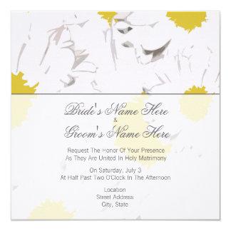 Daisy Wedding Invitation - From Bride & Groom