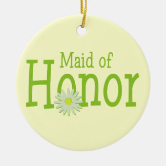 Daisy Wedding/ Maid of Honor Christmas Ornament