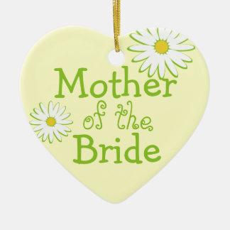 Daisy Wedding Mother of the Bride Ceramic Ornament