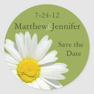 Daisy Wedding Save the Date Announcement Sticker