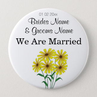 Daisy Wedding Souvenirs Keepsakes Giveaways Button