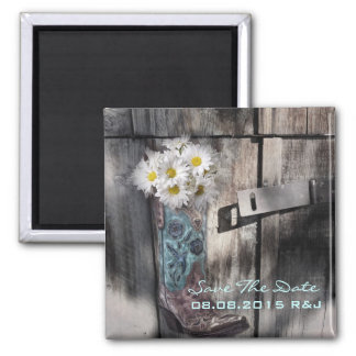 daisy western country wedding save the date magnet