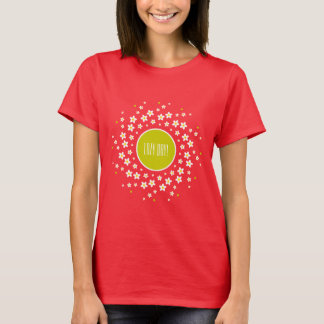 Daisy Wheel Motif T-Shirt