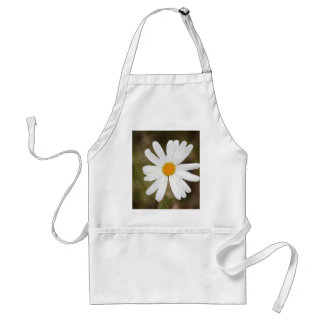 Daisy with a Rain Droplet Print Adult Apron