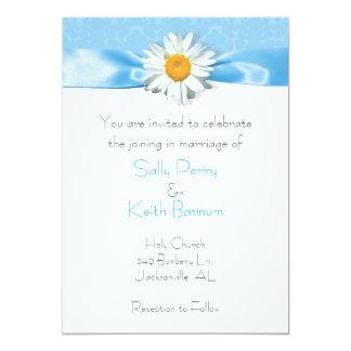 Daisy with Blue Ribbon 5x7 Paper Invitation Card