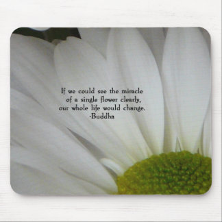 Daisy-with Buddha quote Mouse Pad
