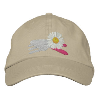Daisy with Garden Tools Embroidered Baseball Hat