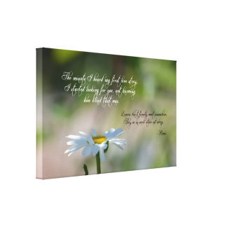 Daisy with Quote Canvas Print