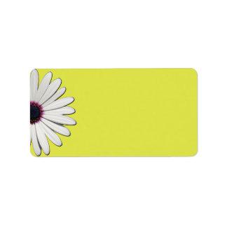 Daisy Yellow Address Labels