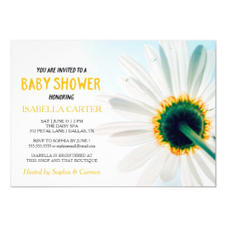 Daisy   Yellow   Baby Shower Card