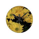 Daisy Yellow Flowers Flora Photo Clock