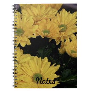 Daisy Yellow Flowers Flora Photo Handy Notebook