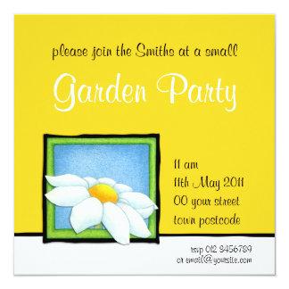 Daisy yellow Garden Party Invitation