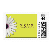Daisy Yellow R.S.V.P. Postage stamp
