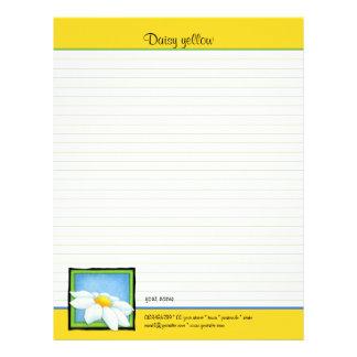 Daisy yellow To Do List Letterhead