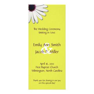 Daisy Yellow Wedding Programs Invite