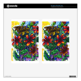 """""""Daisys"""" Kindle Fire Skin For Kindle Fire"""
