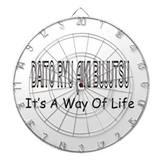 Daito Ryu Aiki Bujutsu It's A Way Of Life Dartboard With Darts