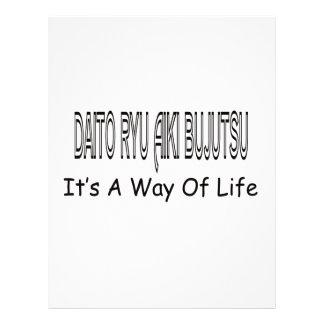 Daito Ryu Aiki Bujutsu It's A Way Of Life Letterhead Design