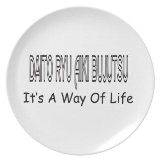 Daito Ryu Aiki Bujutsu It's A Way Of Life Party Plate