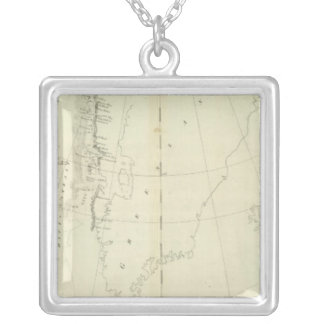 Daivs Straits and Baffin Islands Bay Silver Plated Necklace