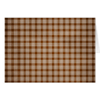 Dak Brown and White Plaid Greeting Card
