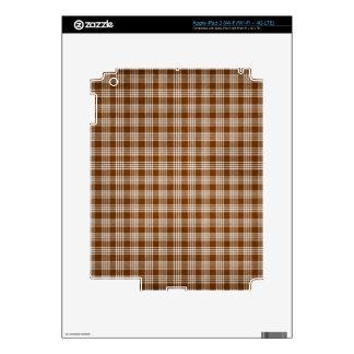 Dak Brown y tela escocesa blanca iPad 3 Pegatinas Skins