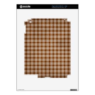 Dak Brown y tela escocesa blanca Skins Para iPad 2