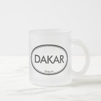 Dakar, Senegal Frosted Glass Coffee Mug