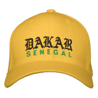 DAKAR, SENEGAL HAT EMBROIDERED BASEBALL CAPS