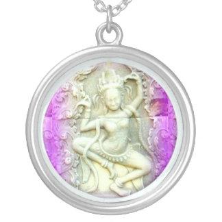 dakini dancing round pendant necklace