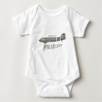 DAKOTA C47 SKYTRAIN - DRAG 'EM OOT BABY BODYSUIT