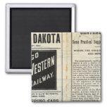 Dakota central imán cuadrado