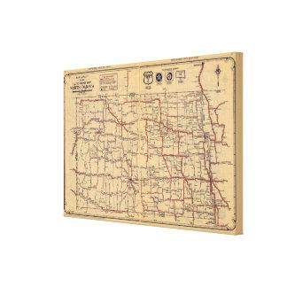 Dakota del Norte 2 Lienzo Envuelto Para Galerías