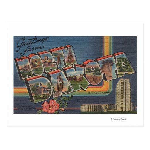 Dakota del Norte (Capital del Estado/flor) Postales