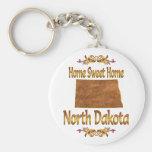 Dakota del Norte casero dulce casero Llaveros Personalizados