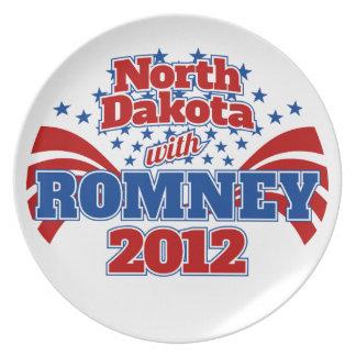 Dakota del Norte con Romney 2012 Platos