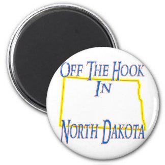 Dakota del Norte - del gancho Imán Redondo 5 Cm