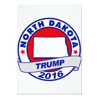 """Dakota del Norte Donald Trump 2016 Invitación 5"""" X 7"""""""