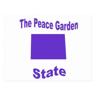 Dakota del Norte: El estado jardín de la paz Tarjeta Postal