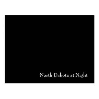 Dakota del Norte en la noche Postal