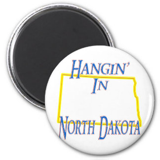Dakota del Norte - Hangin Imán Redondo 5 Cm