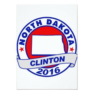 """Dakota del Norte Hillary Clinton 2016.png Invitación 5"""" X 7"""""""