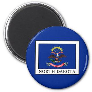 Dakota del Norte Imán Redondo 5 Cm