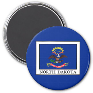 Dakota del Norte Imán Redondo 7 Cm