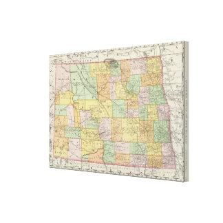 Dakota del Norte Impresiones En Lienzo Estiradas