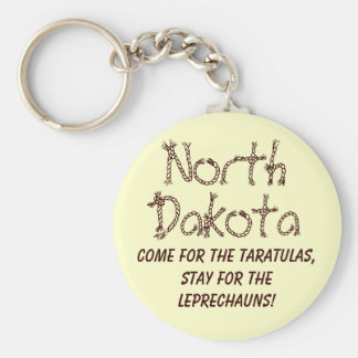 Dakota del Norte Llavero Redondo Tipo Pin