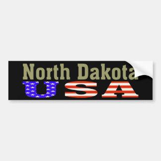 ¡Dakota del Norte los E.E.U.U.! Pegatina para el p Pegatina Para Auto