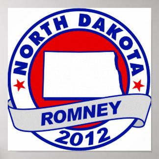 Dakota del Norte Mitt Romney Poster