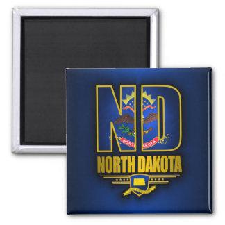 Dakota del Norte (ND) Imán Cuadrado